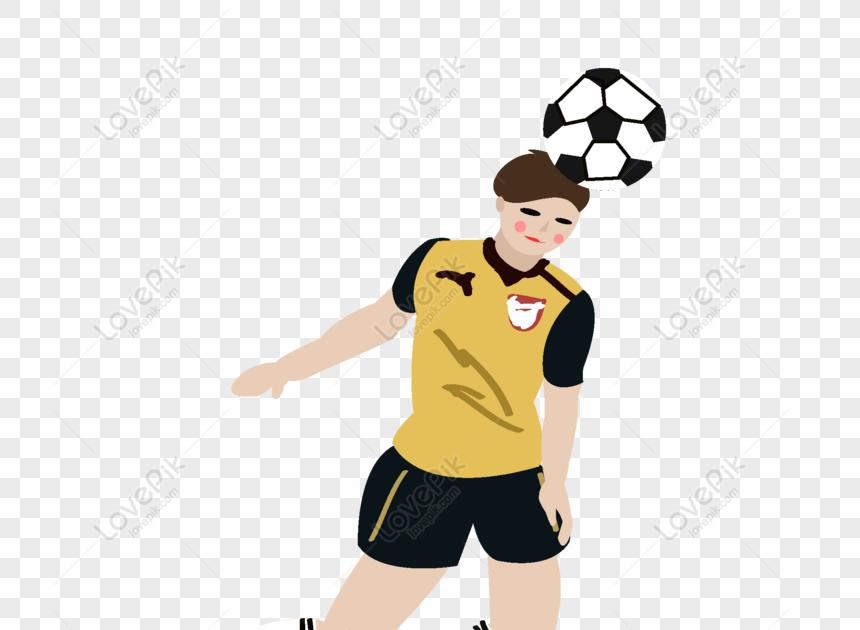 Gratis Vektor Kartun Anak Kecil Yang Bermain Bola Adalah ...