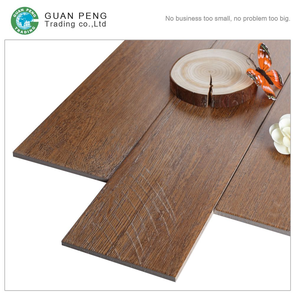 Ceramic Wood Design Finish Lock Floor Tile Tiles