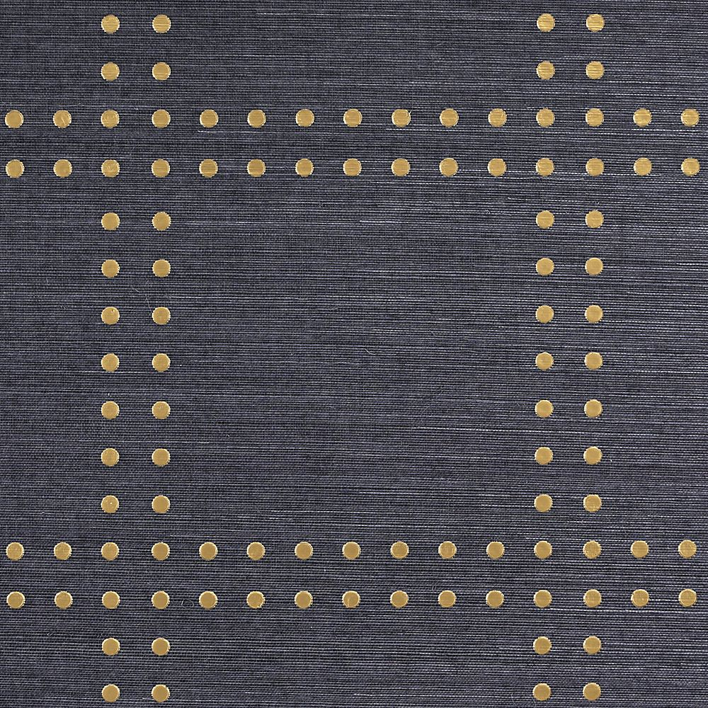 Phillip Jeffries Rivets Wallpaper Gold On Navy Specialty