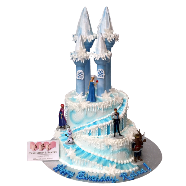 birthday party cake 1797 2 tier elsa castle cake abc cake shop 1797