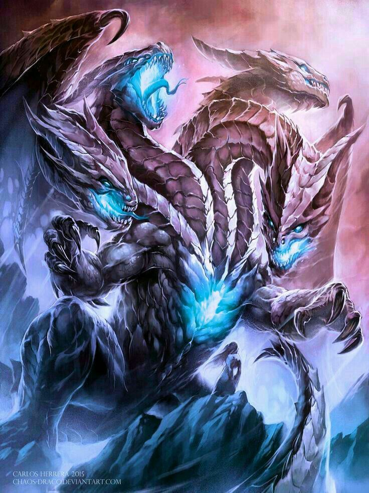 Titan Hydra Dragon Pictures Fantasy Beasts Dragon Artwork