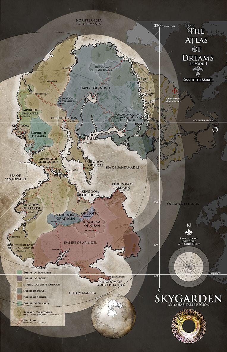 Assassin's Creed Origins Stone Circles Map : assassin's, creed, origins, stone, circles, Skygarden, Fantasy, World, Making