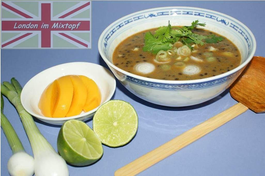 Für dieses thailändisch angehauchte Gericht nehme ich die etwas härteren schwarzen Belugalinsen.   Das Rezept findest du in meinem neuen Buch:  Englische Küche, London im Thermomix: http://amzn.to/2fTiuCN