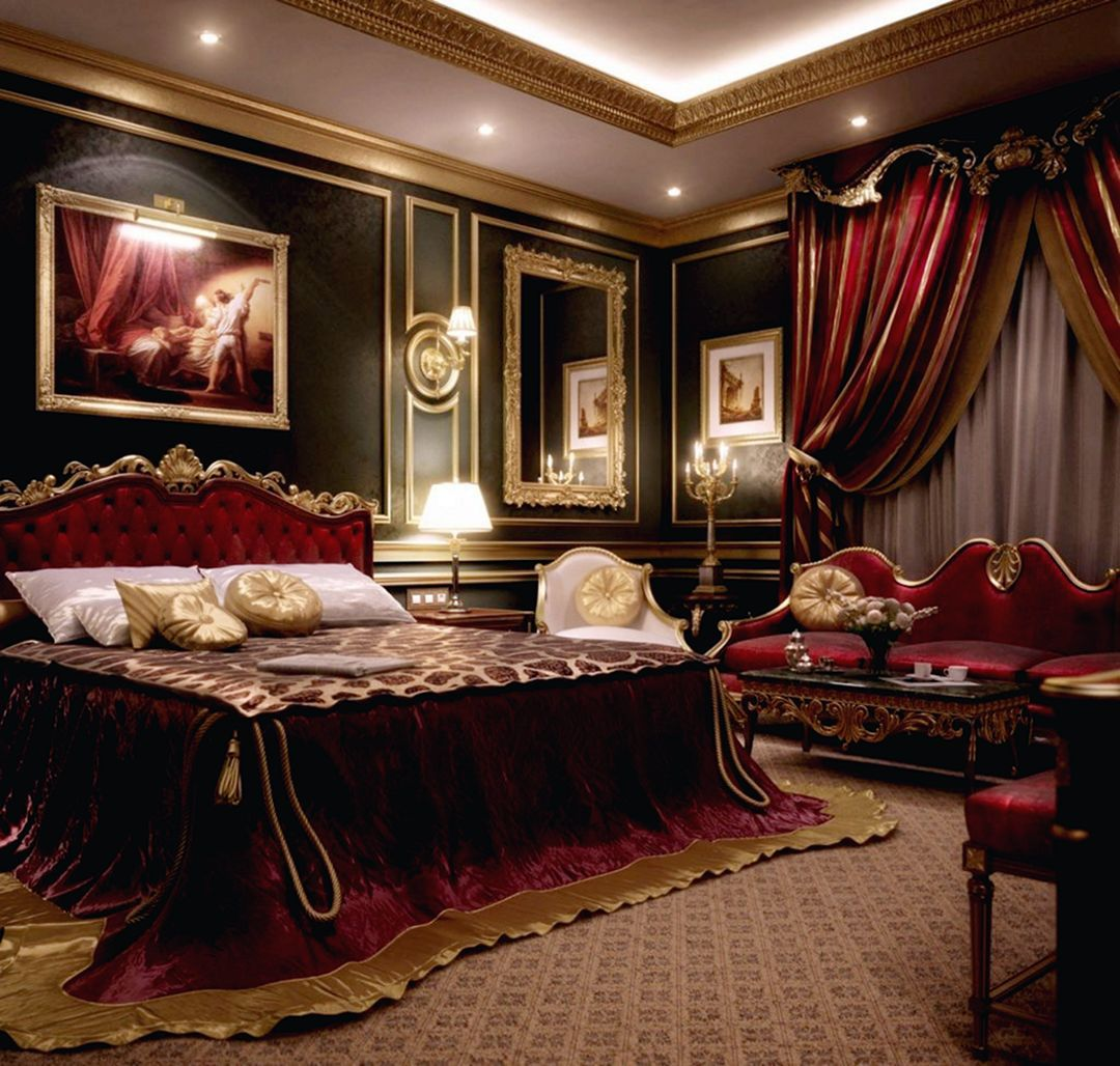 13 Fabulous Luxury Bedroom Design And Decorating Ideas Decor It S Luxurious Bedrooms Mansion Interior Royal Bedroom Red luxury room pictures