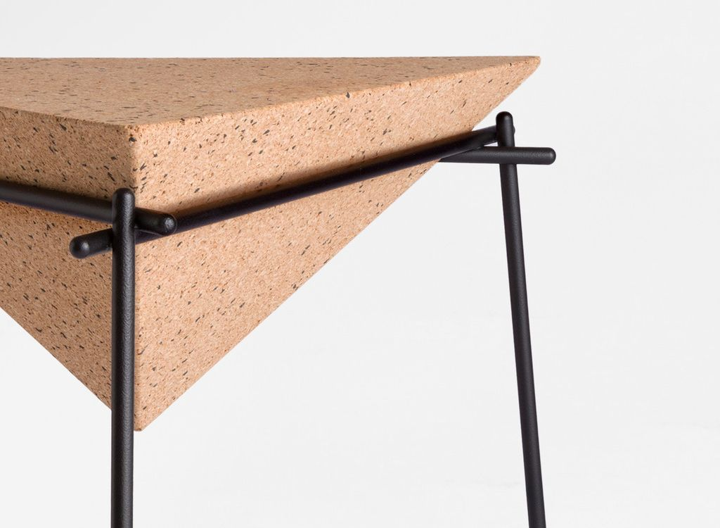 """Things that inspire us: Basil table by Arthur Leitner for Petite Friture """"The side tables BASIL were born from the desire of Arthur Leitner to use the natural qualities of cork. He has associated the..."""