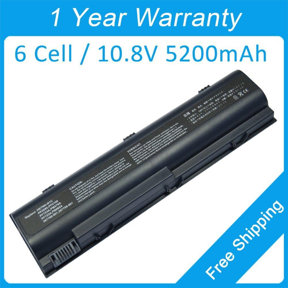 New 6 cell 5200mah laptop battery for hp G5000 G3000 ZT4000 ZE2400 ZE2300  PB995A PF723A HSTNN