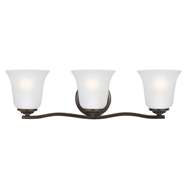 Seagull 4439003en3 782 Emmons Three Light Led Bathroom Vanity Fixture Vanity Lighting Wall
