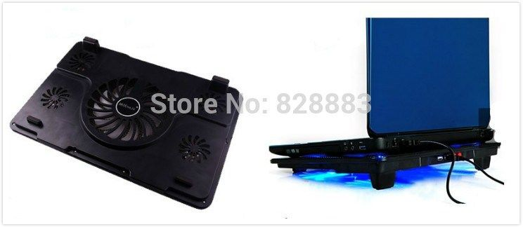 Notebook Cooling Pad Blue Led Laptop Cooler 5 Fans 2 Usb Port Stand Pad For Laptop 10 17 Pc Usb Cooler For Notebook Usb Cord Dengan Gambar