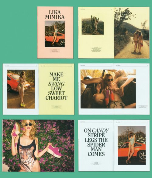 Great new work from Doeller & Satter, including this lookbook for Lika Mimika.