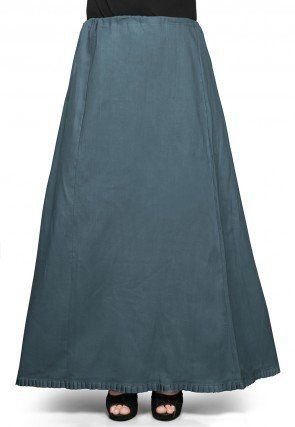 Cotton Petticoat in Dusty Teal Green