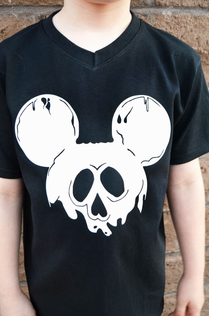 Disney Halloween Shirt Ideas.Diy Halloween Mickey Ears Shirt Using Heat Transfer Vinyl
