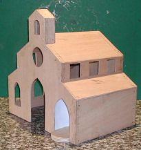 Fabrication de l 39 glise maison creche pinterest cr che cr che de noel et no l - Fabrication maison en carton ...