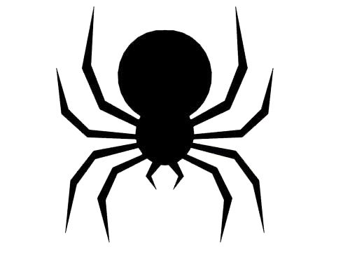 image about Spider Printable referred to as Halloween: Reasonably priced and Basic Losing Spider Silhouette