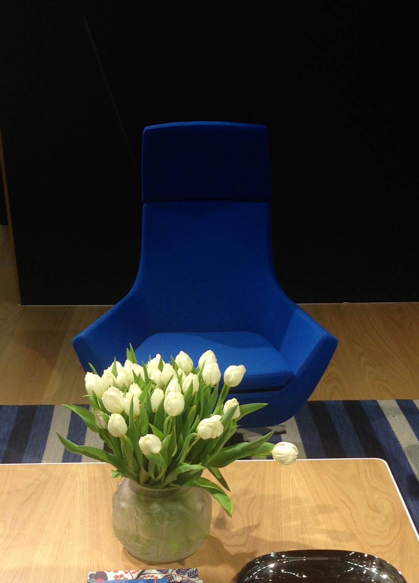 Happy easy chair by Roger Persson for Swedses Stockholm Furniture Fair 2014 by Swedese