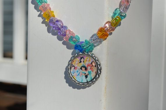 Pretty As A Princess BottleCap Necklace / Party by SpearCraft, $8.00