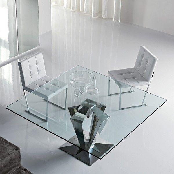 Cattelan italia muebles. mesa de acero y cristal de cattelan ...