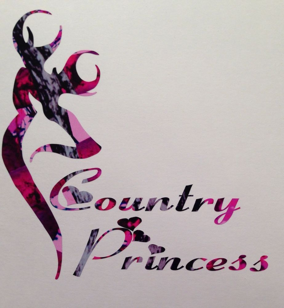 Pink Camo Country Princess Car Truck Vinyl Decal Muddy Deer - Browning vinyl decals