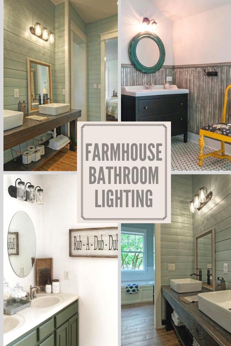 Farmhouse Bathroom Lighting Farmhouse Bathroom Farmhouse