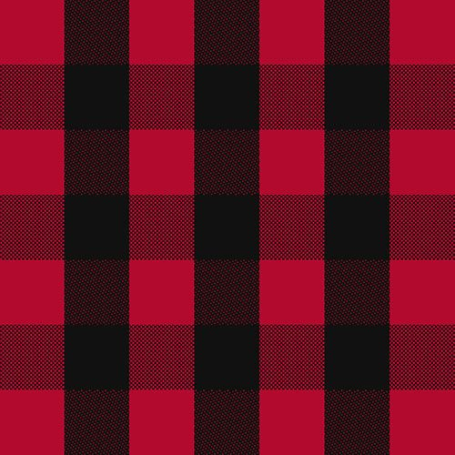 Black Red Buffalo Plaid Cotton Spandex Knit Fabric A Top