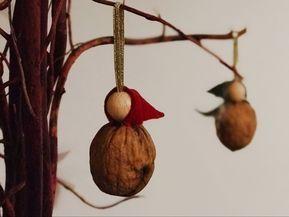 Walnussschalen-Schatzwichtel basteln für Adventskalender oder Geschenkanhänger - Geborgen Wachsen