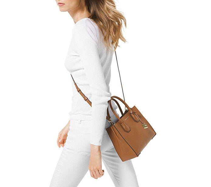 a34f24b79a MICHAEL Michael Kors KORS STUDIO Mercer Medium Messenger Acorn  Handbags   Amazon.com
