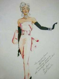 William Travilla's clothing sketches for Marilyn Monroe.