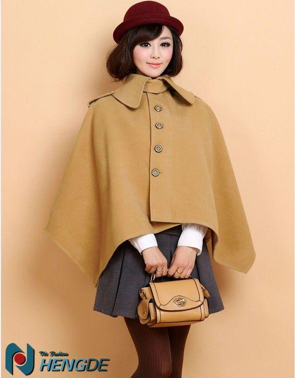 1503b2a86d2 TF34 korean fashion wholesale plus size cape coat winter poncho coats