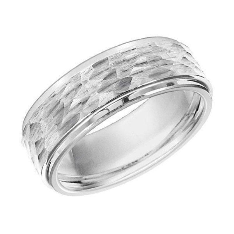 Google Image Result for https://cdn.shopify.com/s/files/1/0658/7967/products/wedding-8mm-wide-white-tungsten-mens-wedding-band-with-hammered-finish-1_800x.jpeg?v=1568682731