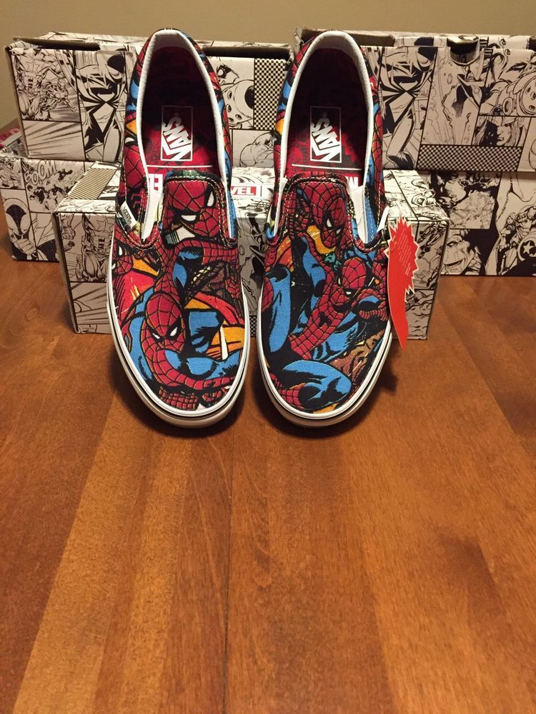 Vans x Marvel Limited Edition Spiderman Classic Slip Ons NIB Size ... 8e5886e86