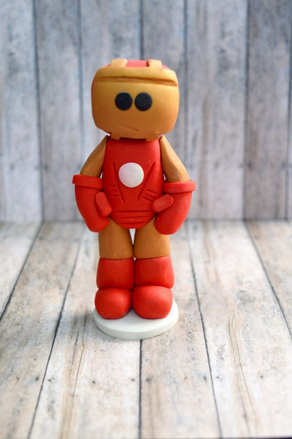 Ironman ornament Ironman cake topper for son by CalledandChosen
