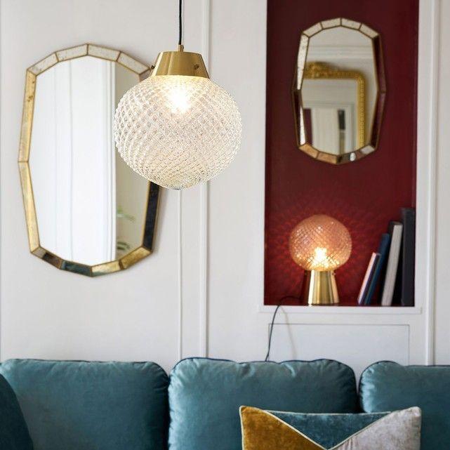 suspension verre et laiton maison p re x la redoute. Black Bedroom Furniture Sets. Home Design Ideas