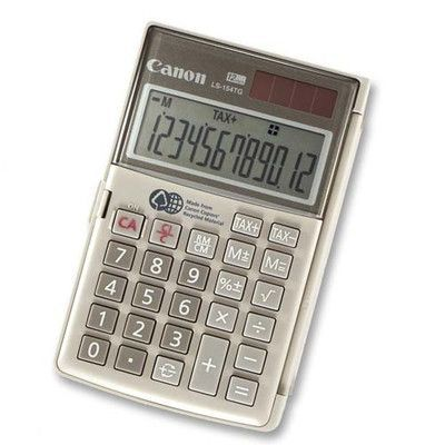 "Canon Handheld Calculator, 12-Digit, Dual Power, 3-1/8""x4-3/4""x5/8"""