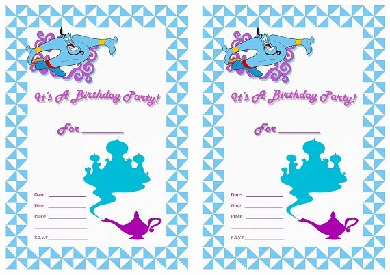 Get Aladdin Birthday Party Invitation Ideas Download this - birthday invite templates free to download