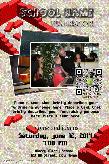 Charity And Fundraising Flyer With A Visual Qr Code HttpWww