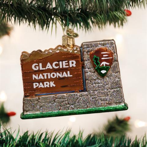 Glacier National Park Sign Ornament