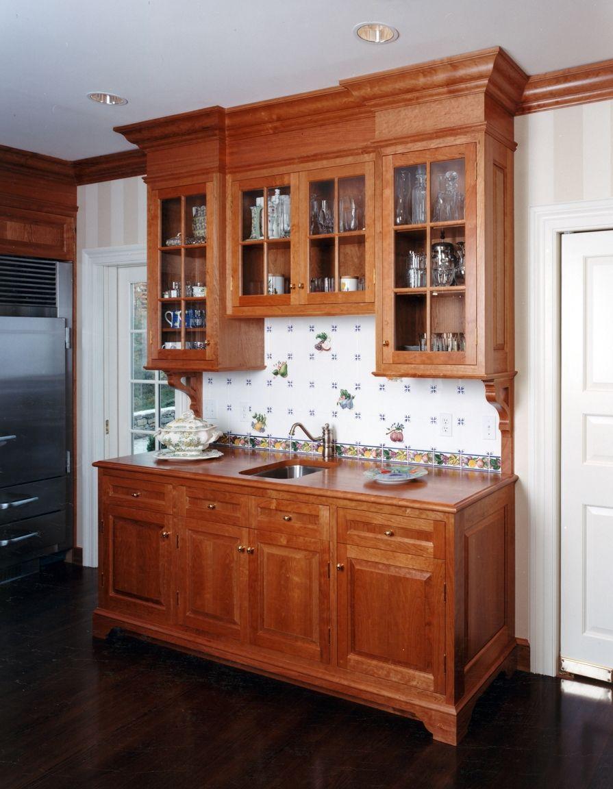 Butler S Pantry Cabinet Cherry Kitchen Kitchen Redesign Kitchen Pantry Design Rustic Kitchen Cabinets