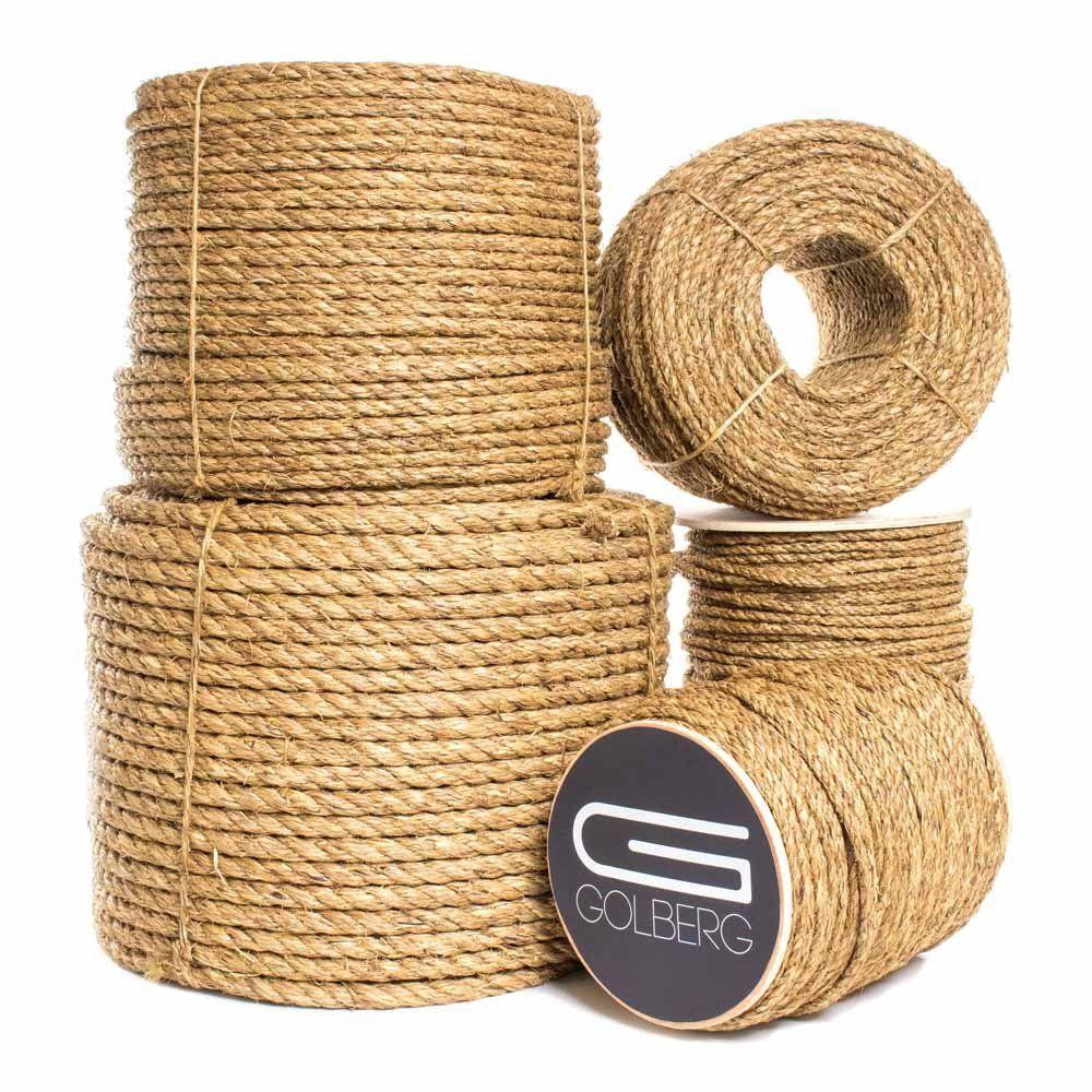 Golberg 3 Strand Natural Fiber Tan Manila Rope In Multiple Diameters 1 4 Inch 5 16 Inch 3 8 Inch 1 2 Inch 5 8 In 2020 With Images Manila Rope Natural Fibers How To Make Rope