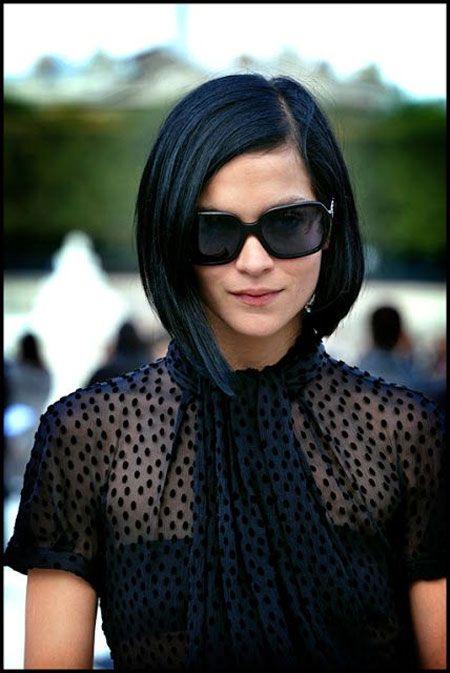 Cortes de cabello negro corto