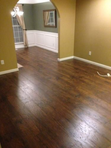 Traffic Master Handsed Saratoga Hickory 7 Mm Thick X 2 3 In Wide 50 5 8 Length Laminate Flooring 24 17 Sq Ft Case 34089 A