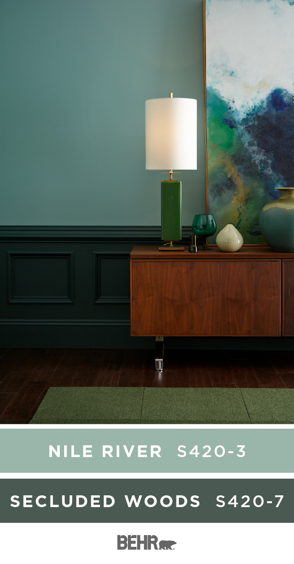 Add A Monochromatic Twist To Your Next Diy Home Makeover Project With Behr Paint In N Blue And Green Living Room Paint Colors For Living Room Living Room Paint