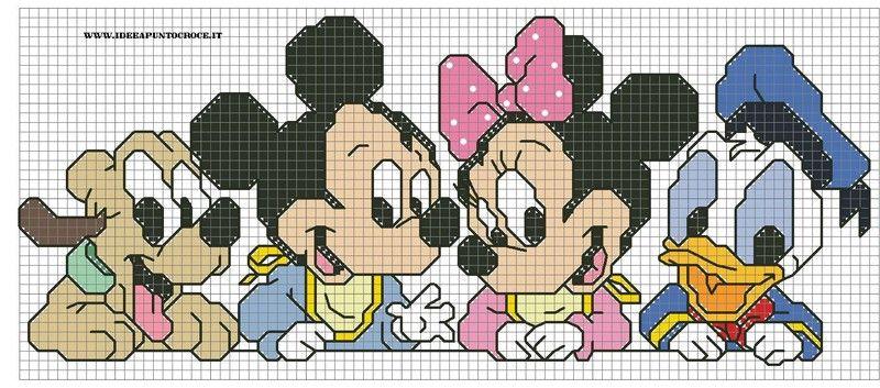 Baby disney cross stitch by on for Schemi gratis punto croce disney