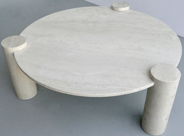 Large Round Organic Three Legged Travertine Coffee Table Italy 1970s Travertine Coffee Table Coffee Table Large Square Coffee Table