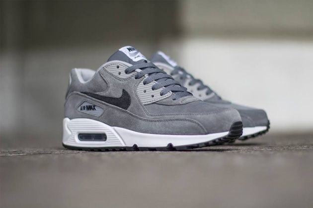 nike air max 90 leather premium grey