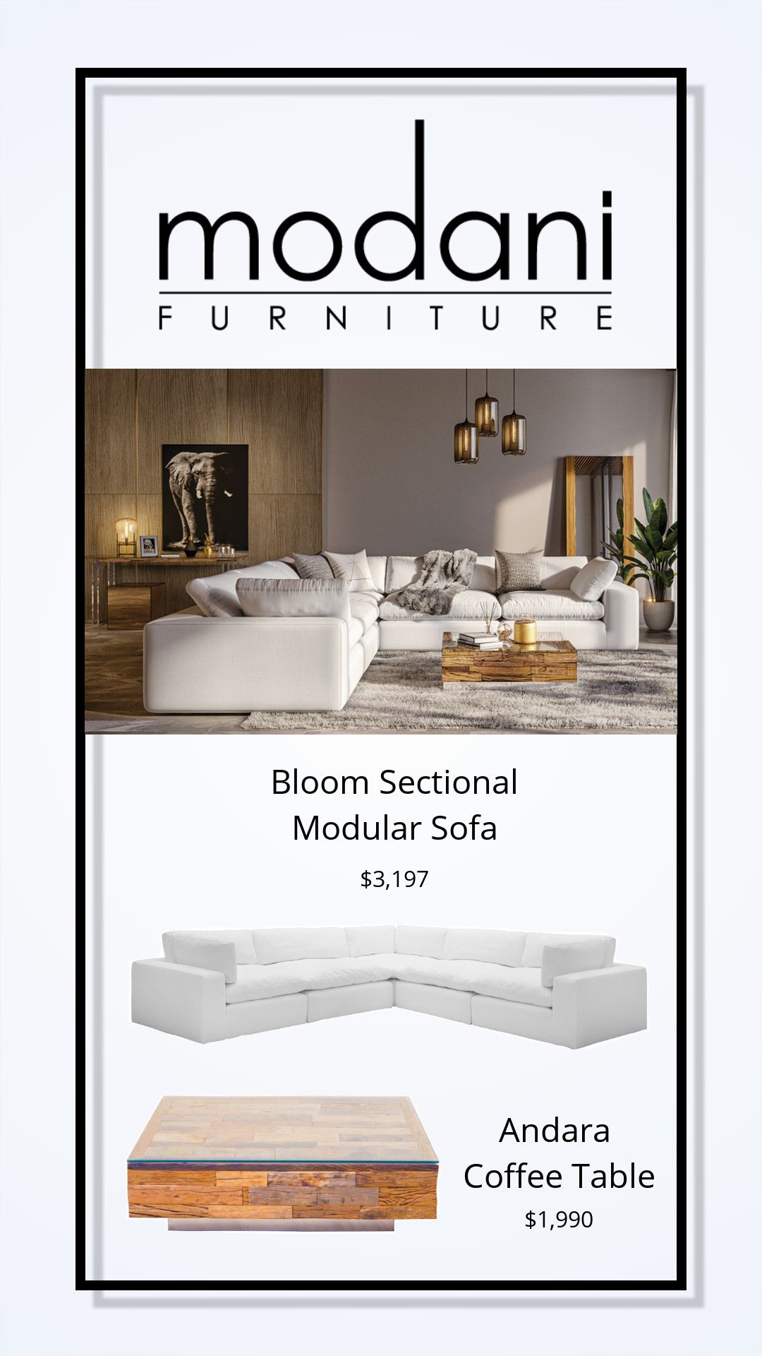Bloom Sectional Modular Sofa White Modular Sofa Comfy Living Room Furniture Blue Dining Room Chairs [ 1920 x 1080 Pixel ]