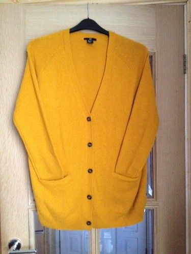 H&M Womens Size Small Oversized Mustard Yellow Cardigan | eBay ...