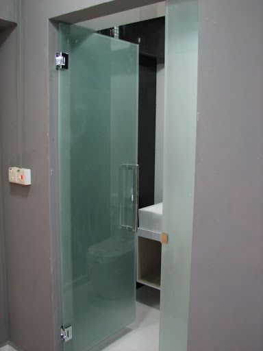 Frosted Glass Door For Common Toilet Renotalk Com Glass Doors Interior Glass Bathroom Door Frosted Glass Door