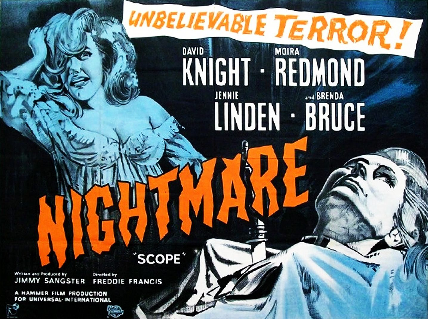 Image result for hammer horror nightmare