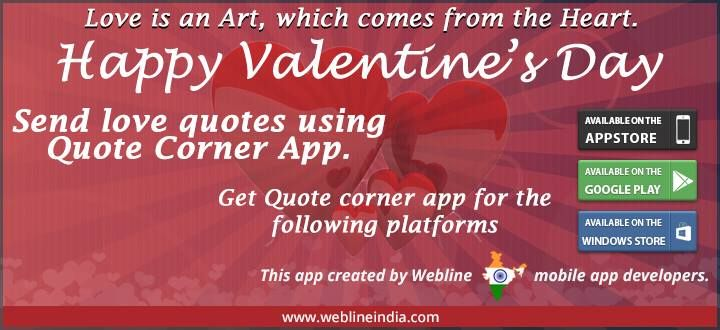 Wish a Very Happy #Valentine Day using our fabulous Quote Corner ...