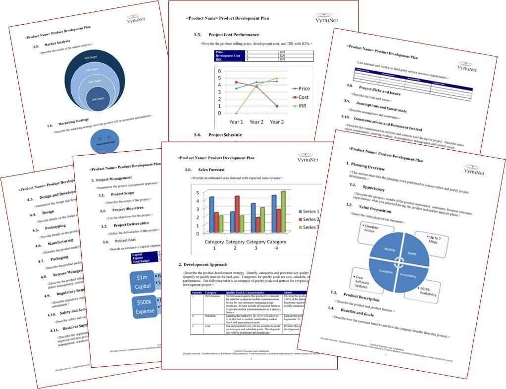 Product Development Plan Template For Project Or Product Manager