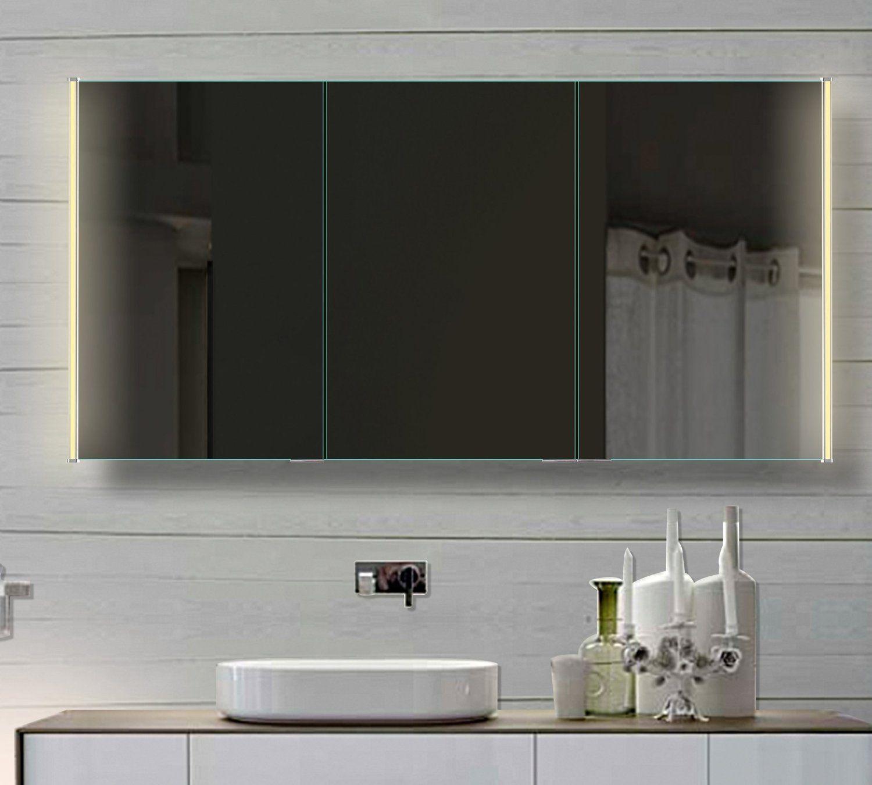 badezimmer spiegelschrank mit led beleuchtung lichtleitenden acryl streifen bathroom. Black Bedroom Furniture Sets. Home Design Ideas